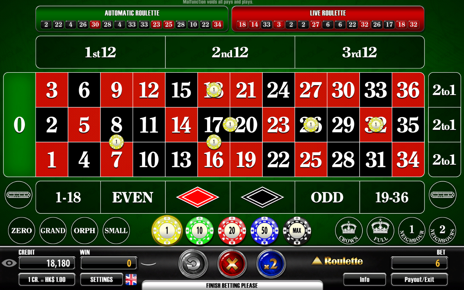 Choose Roulette Gambling Play