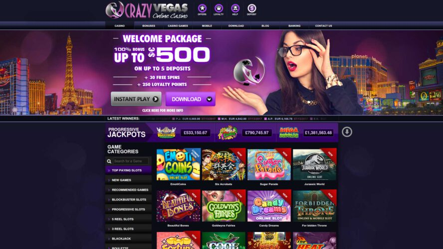 Crazy Vegas Casino Working To Stay On Top Of The Game